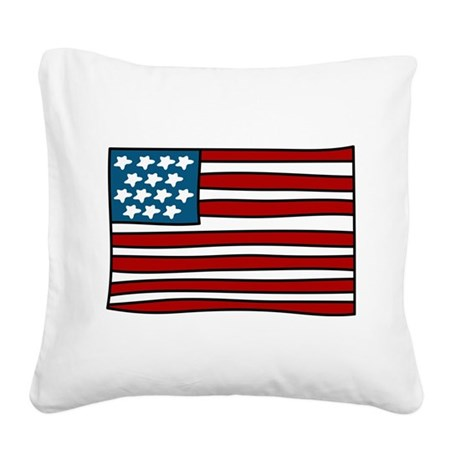 Old Glory Square Canvas Pillow