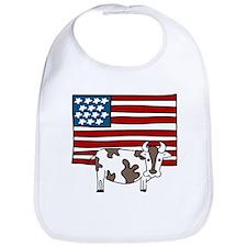 Patriotic Cow Bib