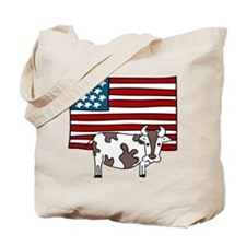 Patriotic Cow Tote Bag