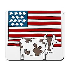 Patriotic Cow Mousepad