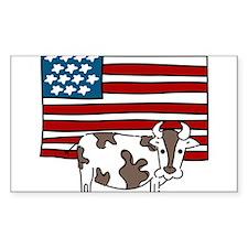 Patriotic Cow Decal