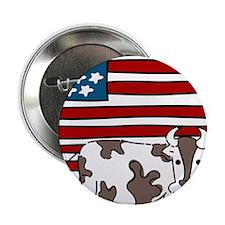 """Patriotic Cow 2.25"""" Button"""