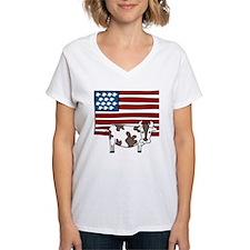 Patriotic Cow Shirt