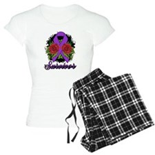 Fibromyalgia Survivor Rose Tattoo pajamas