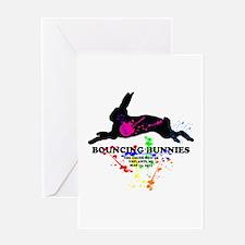 Bouncing Bunnies Team Logo Greeting Card