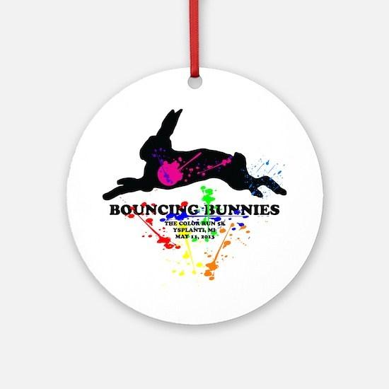 Bouncing Bunnies Team Logo Ornament (Round)