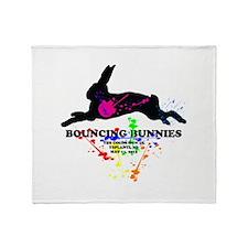 Bouncing Bunnies Team Logo Throw Blanket