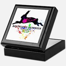 Bouncing Bunnies Team Logo Keepsake Box