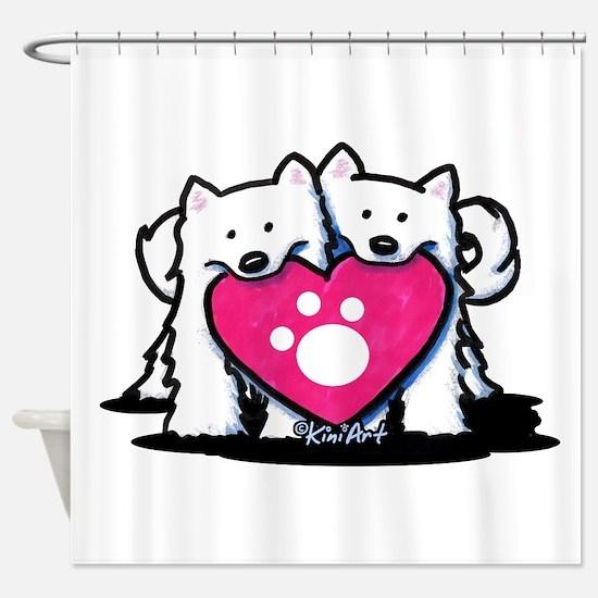 Valentine Duo Shower Curtain