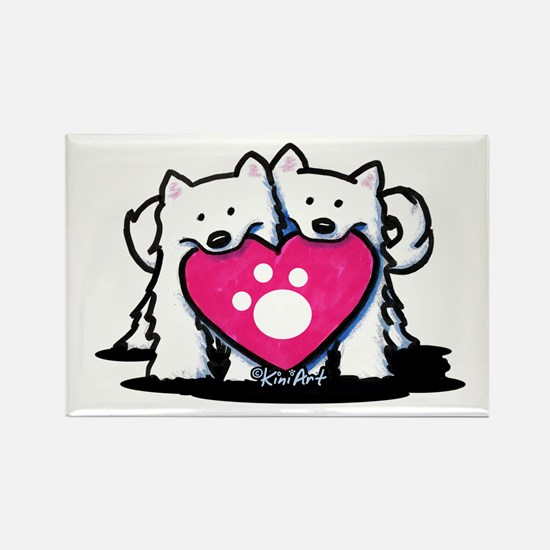 Valentine Duo Rectangle Magnet