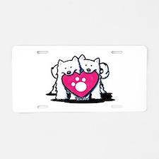 Valentine Duo Aluminum License Plate