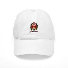 Endometrial Cancer Survivor Rose Tattoo Baseball Cap