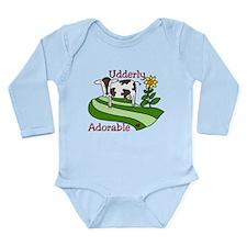 Udderly Adorable Long Sleeve Infant Bodysuit