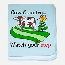 Cow Country baby blanket