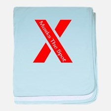 X Marks The Spot baby blanket