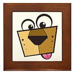 Abstract Dog 01 Framed Tile