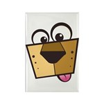 Abstract Dog 01 Rectangle Magnet (100 pack)