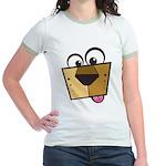 Abstract Dog 01 Jr. Ringer T-Shirt