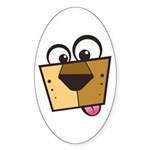 Abstract Dog 01 Oval Sticker