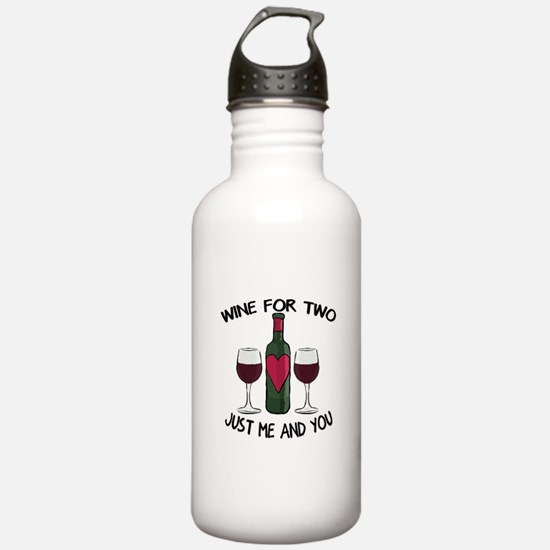 Romantic love wine for two Water Bottle