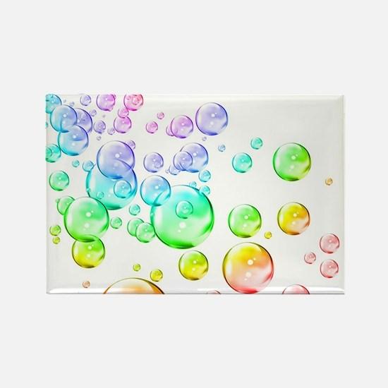 Colored bubbles Rectangle Magnet