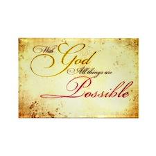 with god gold vintage Rectangle Magnet