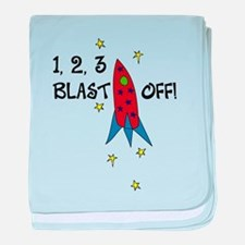 1,2,3...Blast Off baby blanket