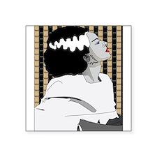 Bride of Frankenstein Illustration Square Sticker