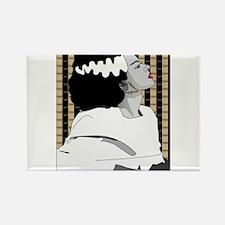 Bride of Frankenstein Illustration Rectangle Magne