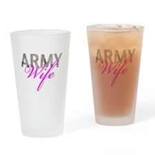 DCU Army Wife Drinking Glass