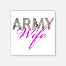 """DCU Army Wife Square Sticker 3"""" x 3"""""""