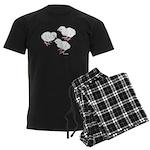 Guineas White Keets Men's Dark Pajamas