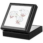 Guineas White Keets Keepsake Box