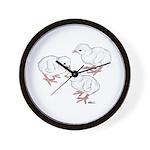 Guineas White Keets Wall Clock