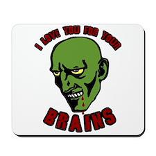 Zombie valentines Mousepad