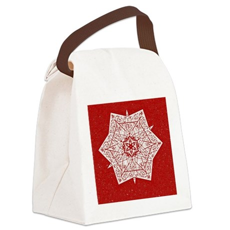 Attractive Red Star Canvas Lunch Bag