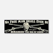 No Free Man Car Magnet 10 x 3