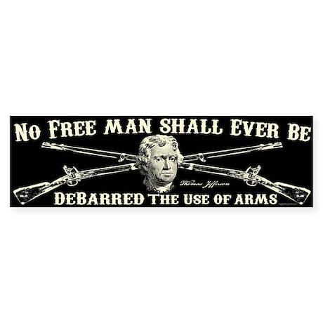 No Free Man Sticker (Bumper)