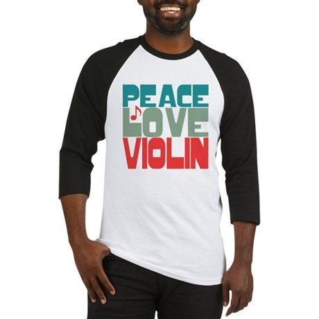 Peace Love Violin Baseball Jersey