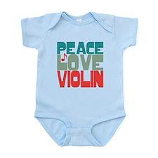 Peace Love Violin Infant Bodysuit
