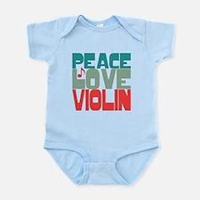 Peace Love Violin Onesie