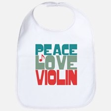Peace Love Violin Bib