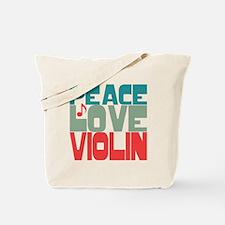 Peace Love Violin Tote Bag