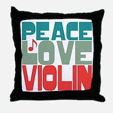 Peace Love Violin Throw Pillow