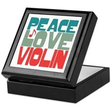Peace Love Violin Keepsake Box
