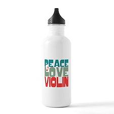 Peace Love Violin Water Bottle