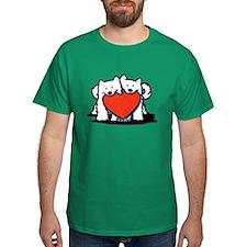 American Eskimo Duo T-Shirt