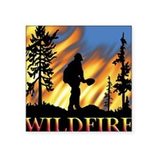 Wildfire Rectangle Sticker