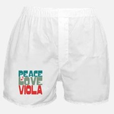 Peace Love Viola Boxer Shorts