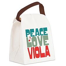 Peace Love Viola Canvas Lunch Bag